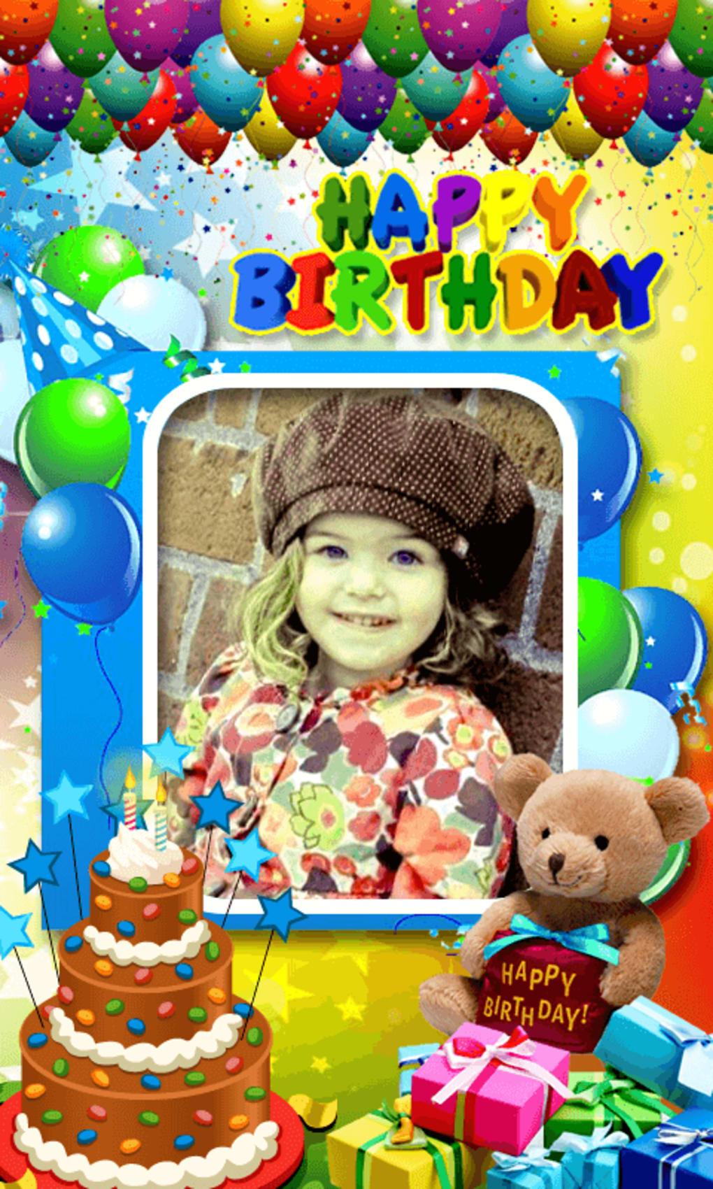 happy birthday photo frame app download