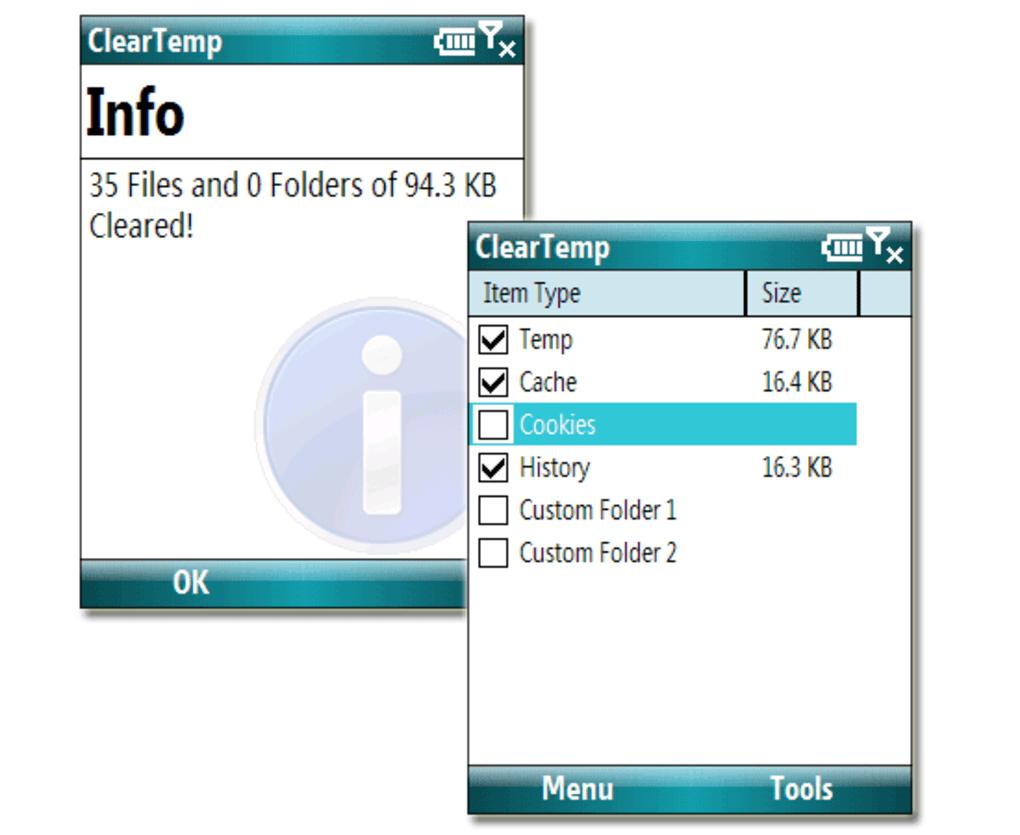 ClearTemp per Windows Mobile