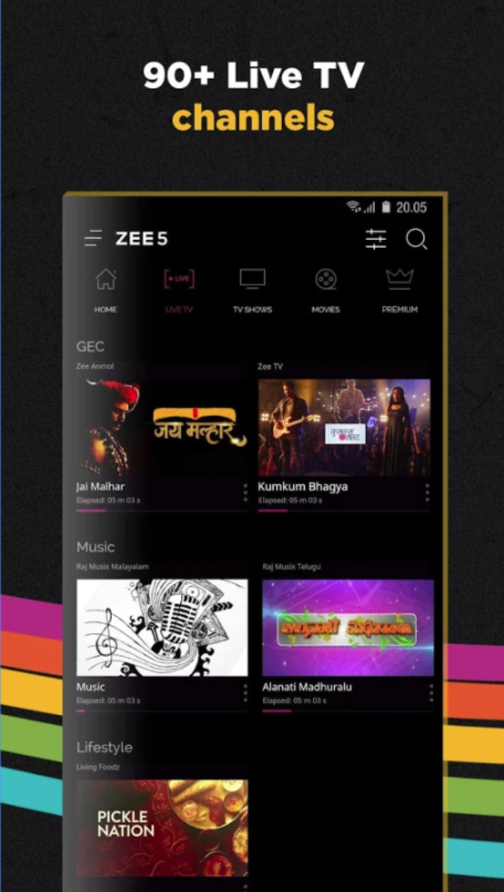 ZEE5 - Movies, TV Shows, LIVE TV & Originals for Android - Download
