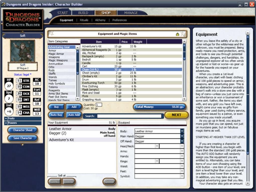 D&D Character Builder - Download