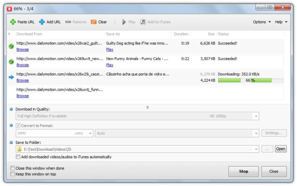 MP4 Downloader - Download