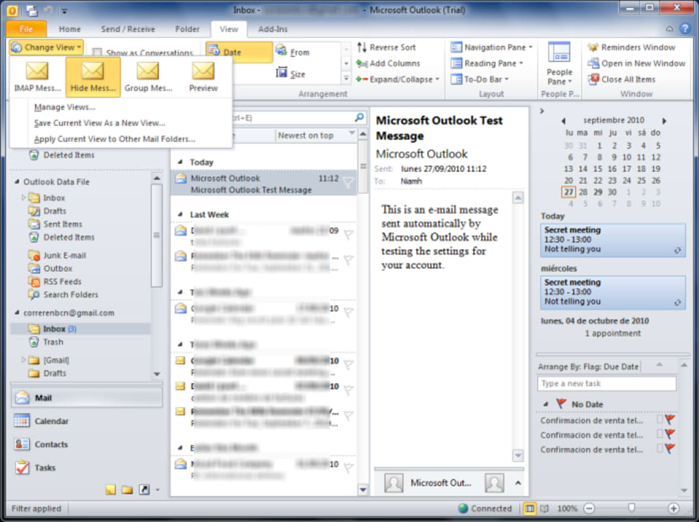 Microsoft outlook 2013 tutorial | downloading the address book.