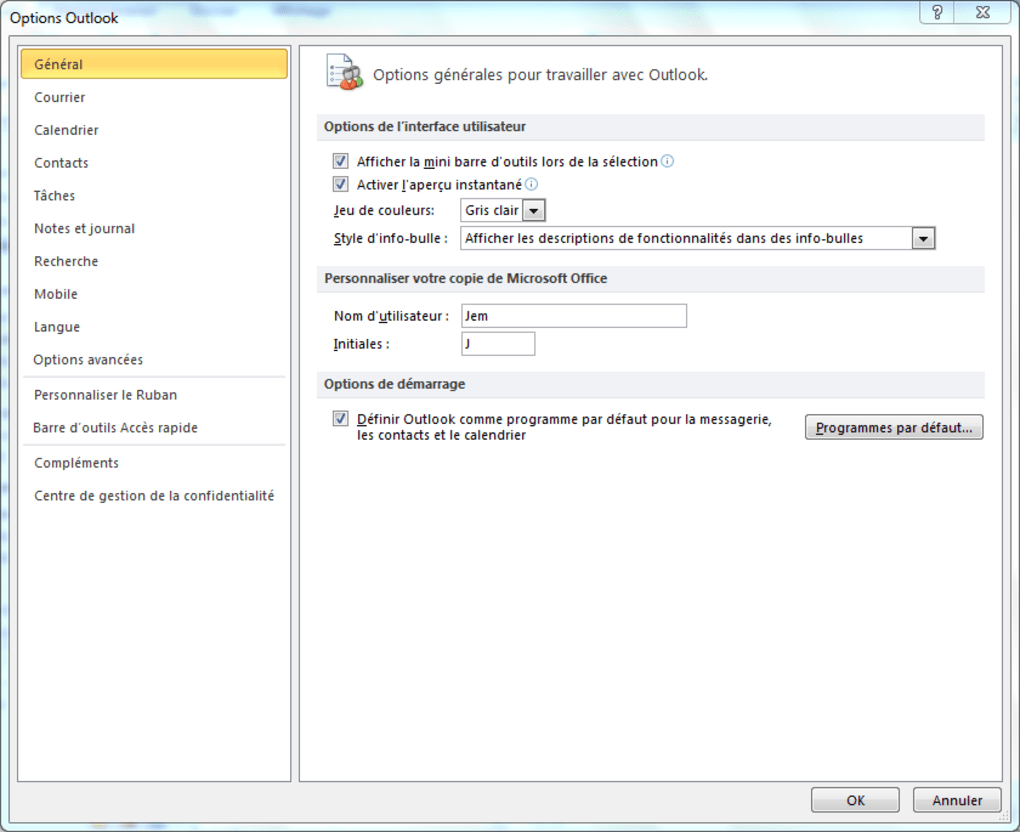 telecharger outlook 2010 version dessai