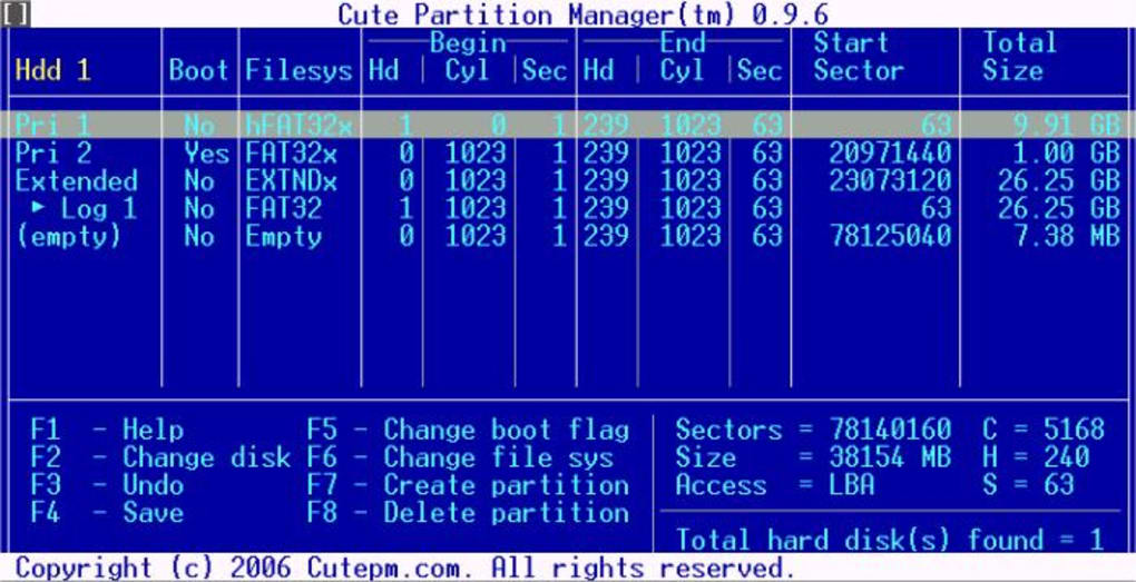 Cute Partition Manager - Download
