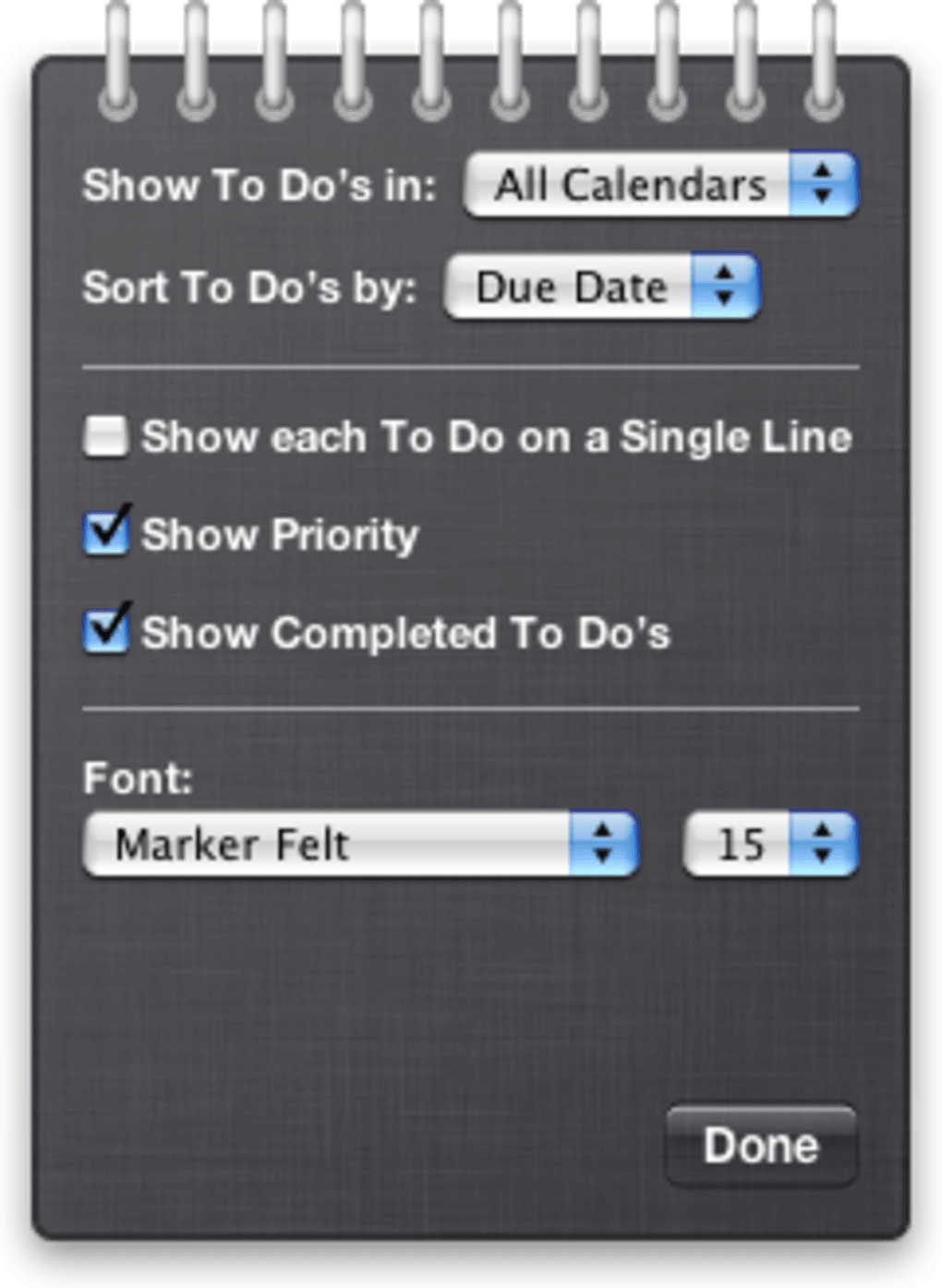 To Do Widget