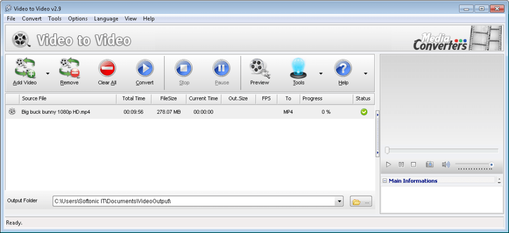 logiciel convertir video mp5
