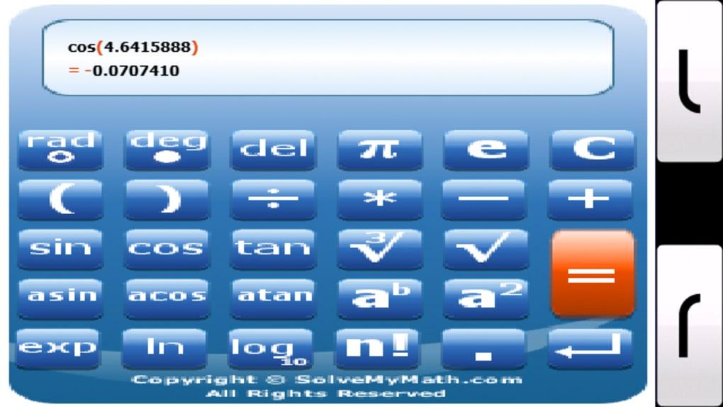 calculadora cientifica para celular em java