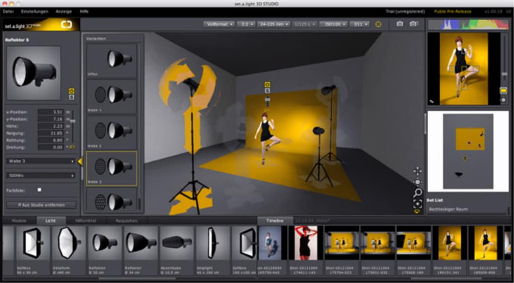 set a light 3D STUDIO - Download