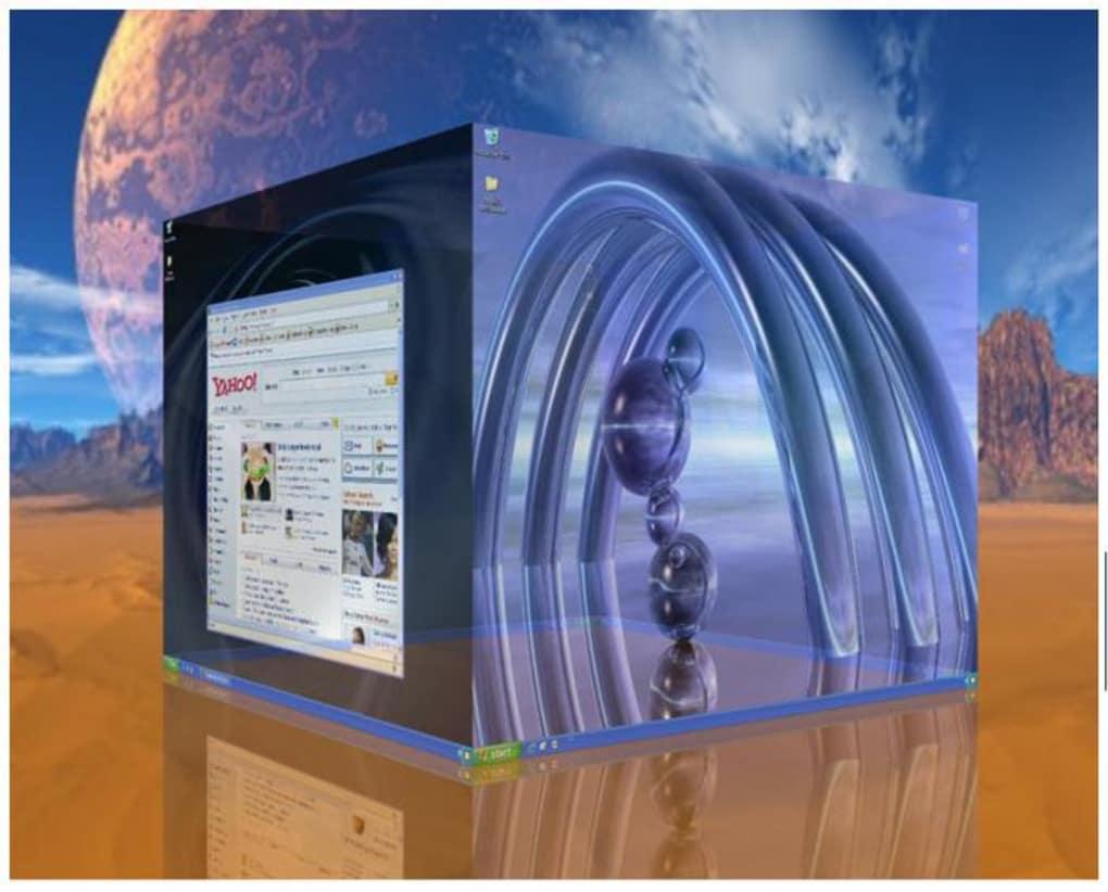 deskspace bureaux virtuel cube 3d