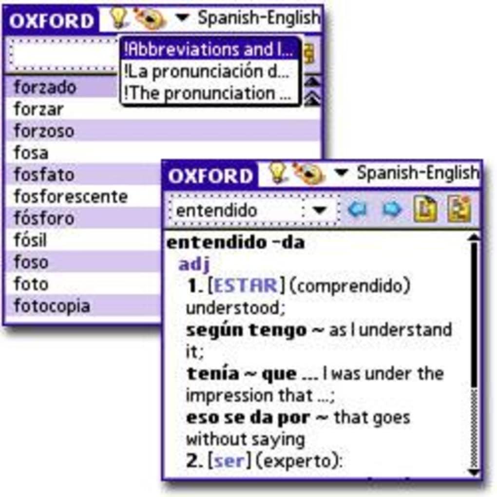 Encyclopedic Spanish-English dictionary. Pocket Oxford Spanish Dictionary
