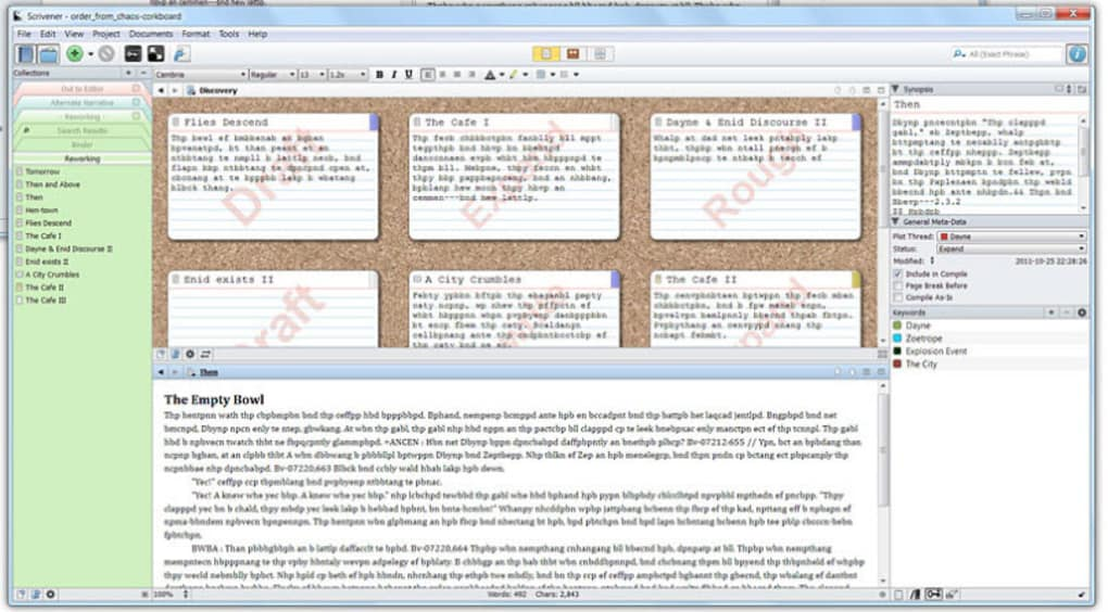 Scrivener Mac Software
