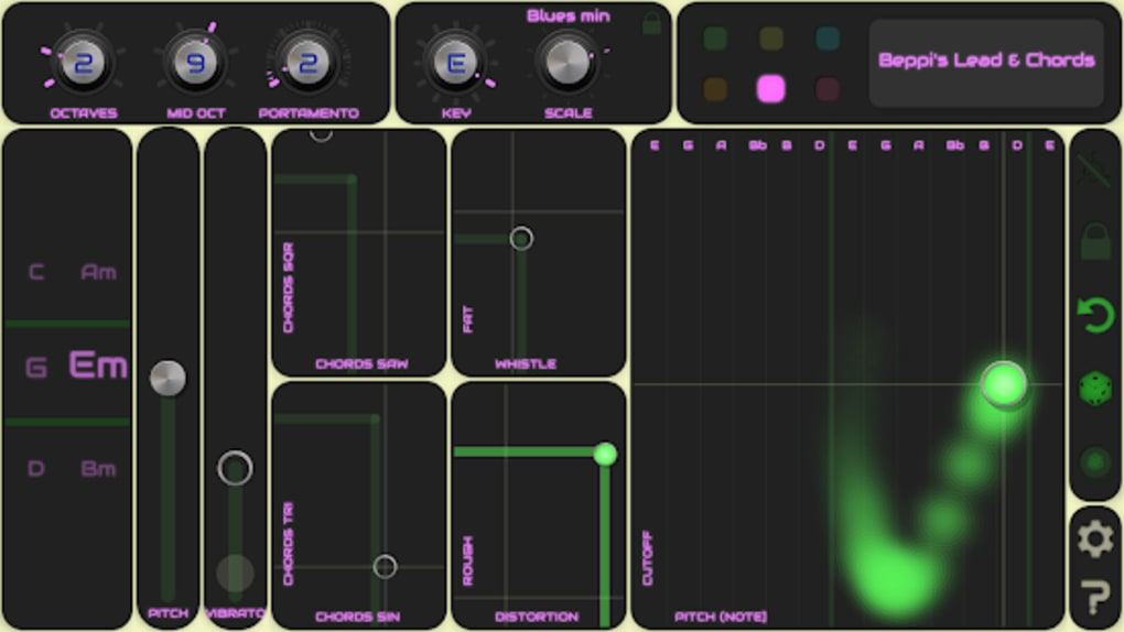 QiBrd: Free Virtual Analog Synthesizer for Android - Download