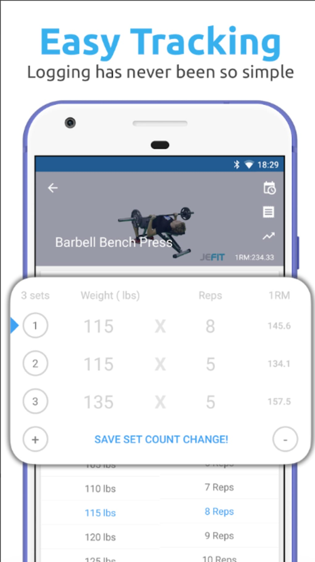 jefit workout tracker gym log for android download