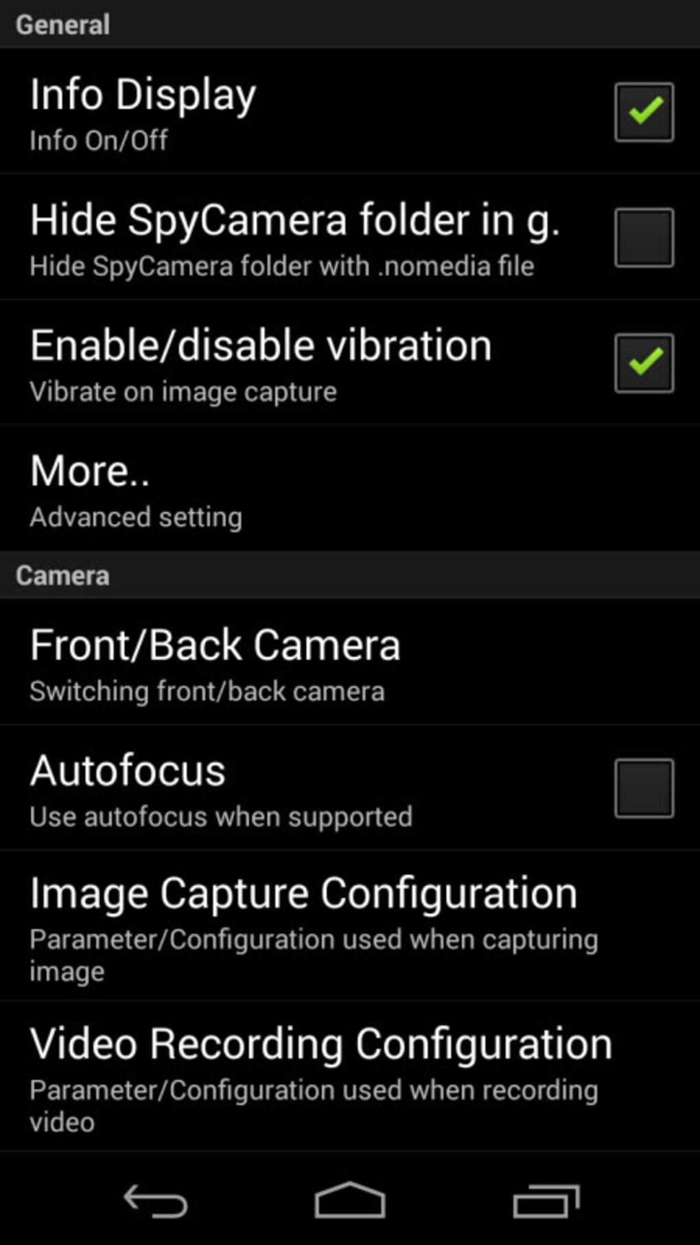 Spy Camera OS 3 (SC-OS3) 0.6.0 Update