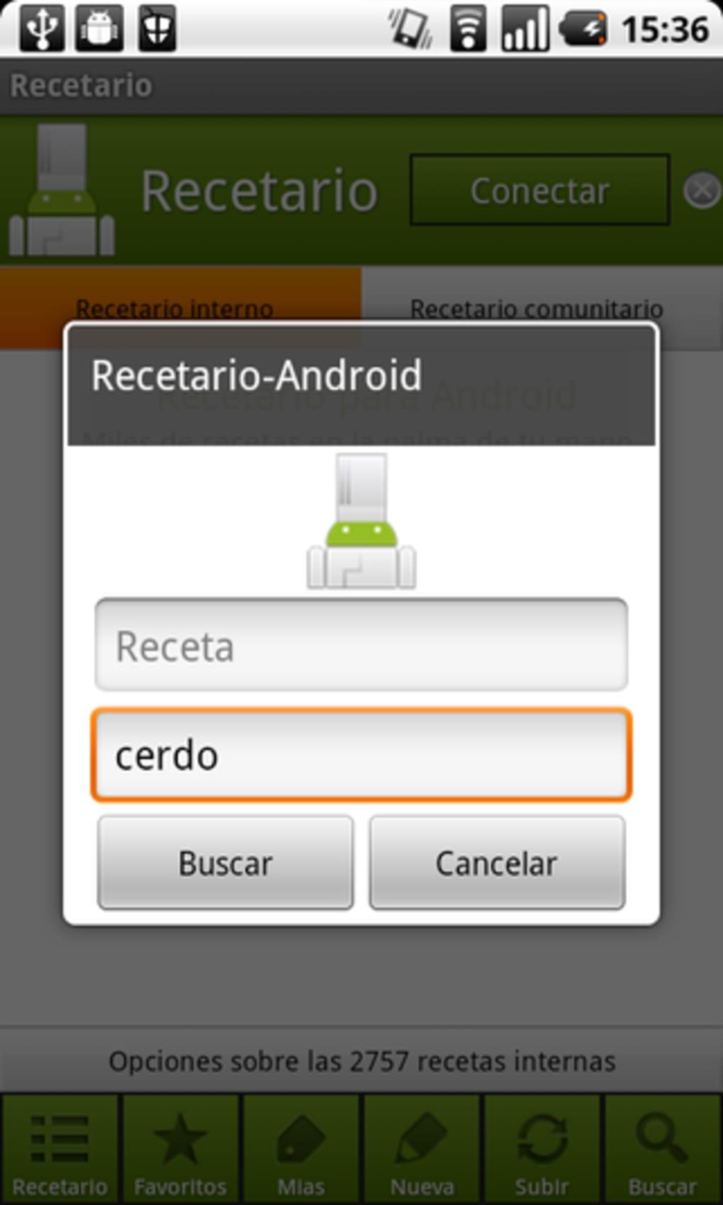Recetario recetas de cocina para android descargar for App para disenar cocinas