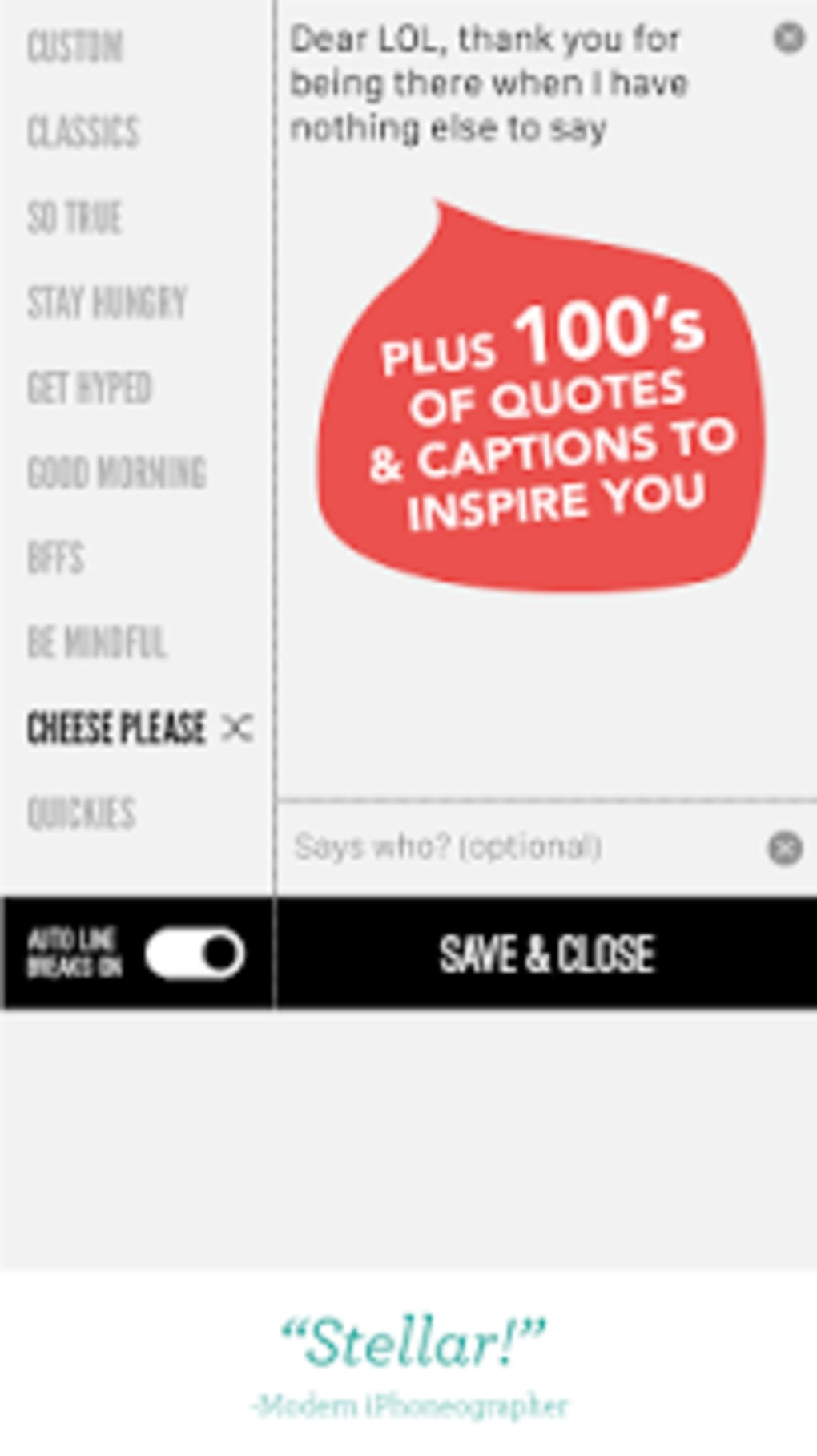 Word Swag - Cool fonts, quotes for Android - Download
