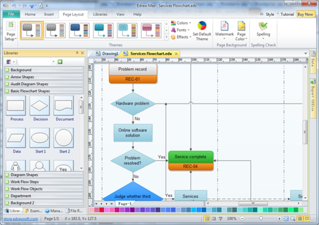 Edraw flowchart download a quicker way to create flowcharts and presentations ccuart Choice Image