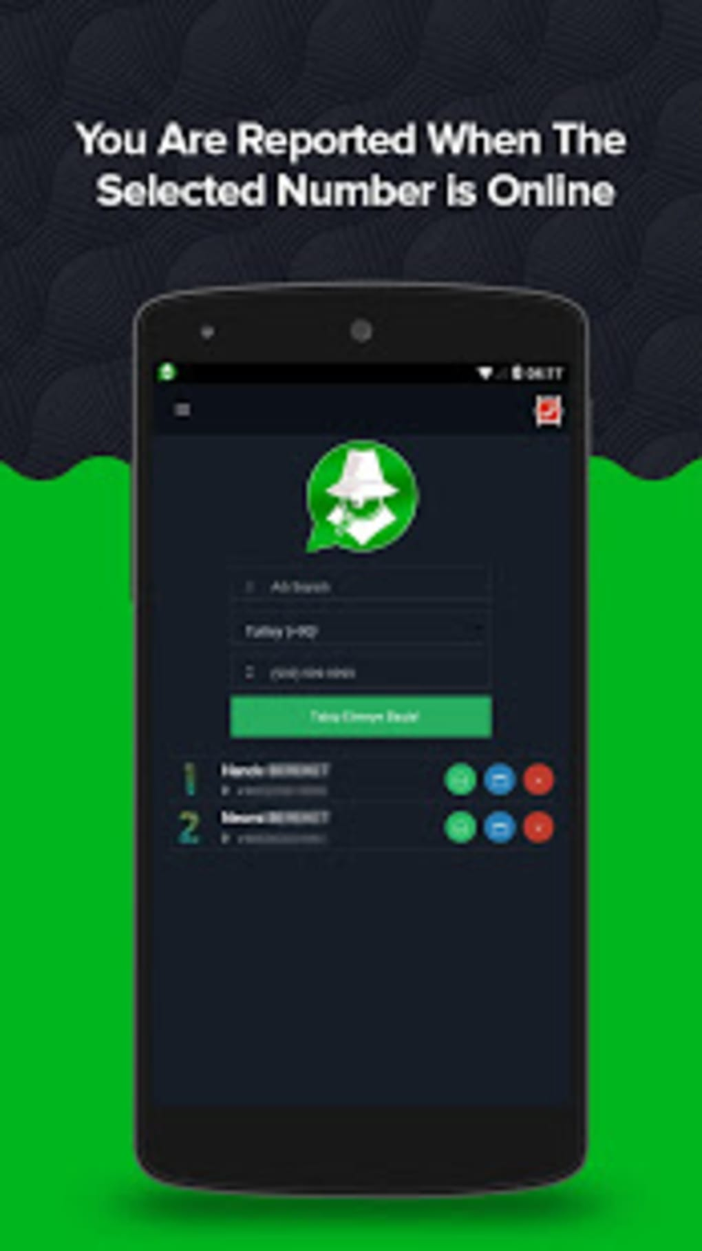 WatNotify : Online App Usage Tracker for WhatsApp for