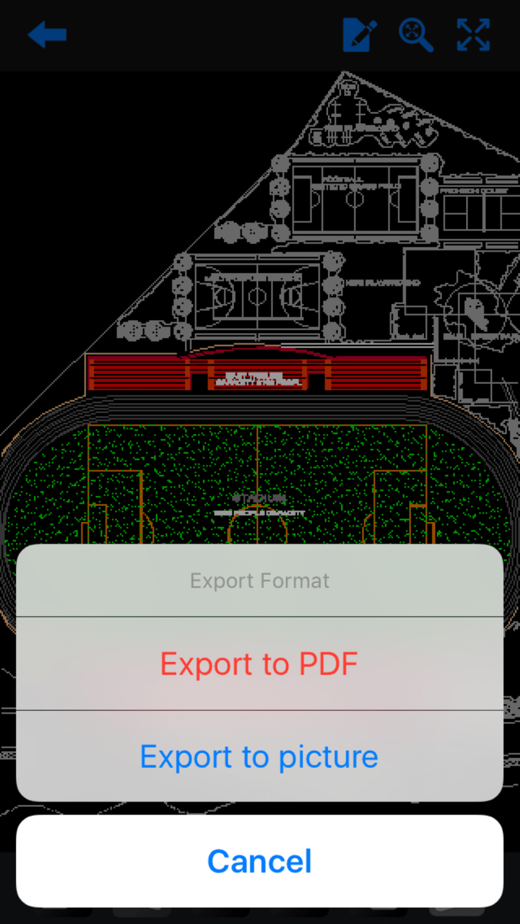 Dwg fastview cad drawing and viewer for iphone download softonic review malvernweather Images
