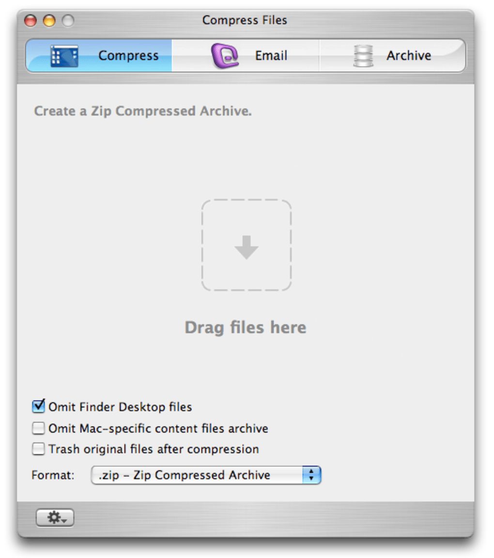 compress mac files for email
