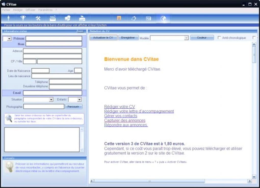 t u00c9l u00c9charger cvitae version 4 0 0 franaise