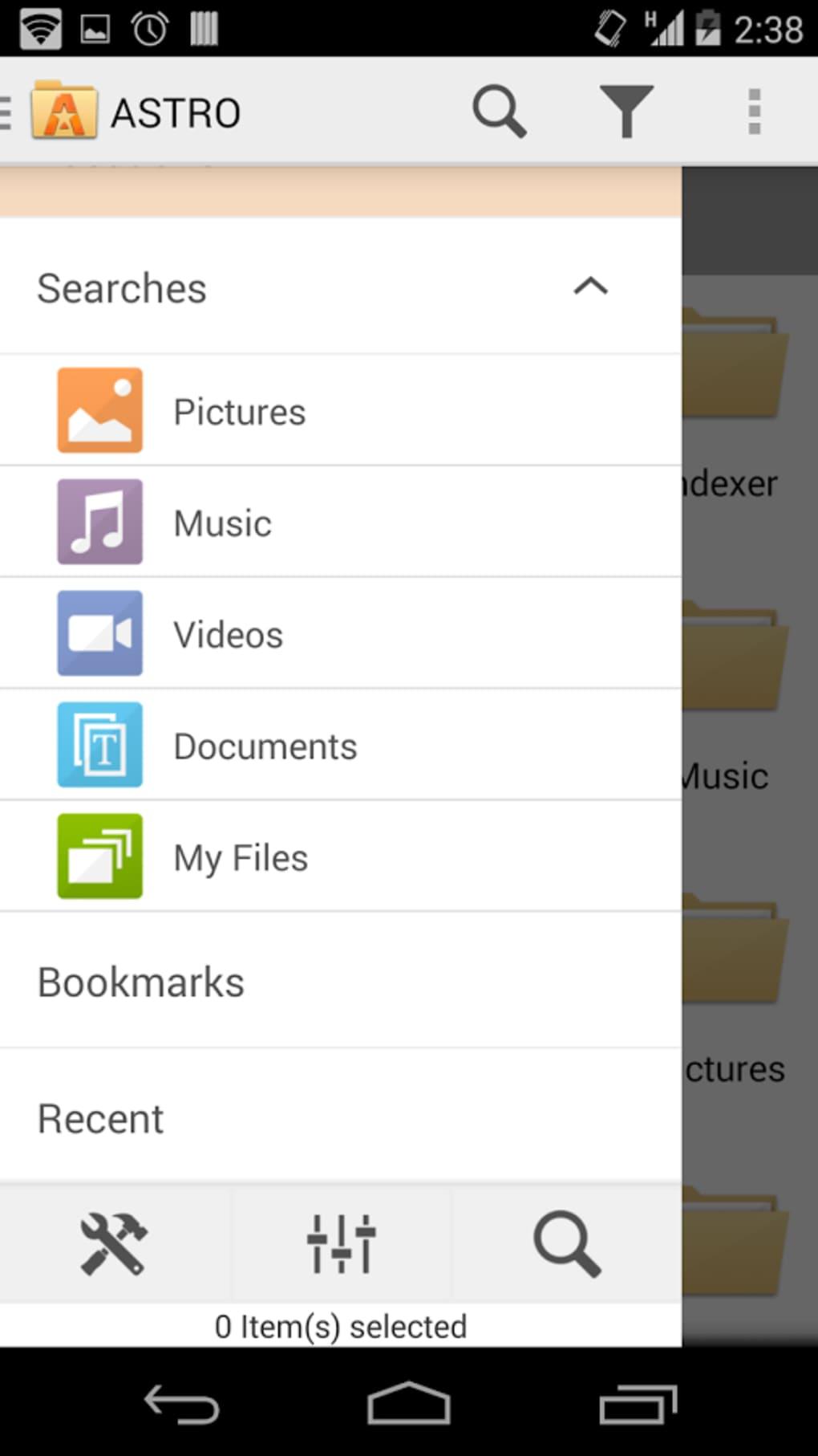 astro gestionnaire de fichiers pour android gratuit