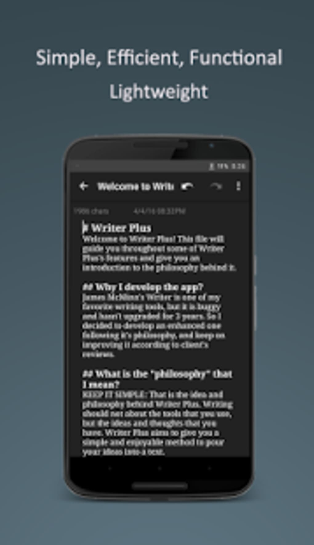 Writer Plus (Write On the Go)