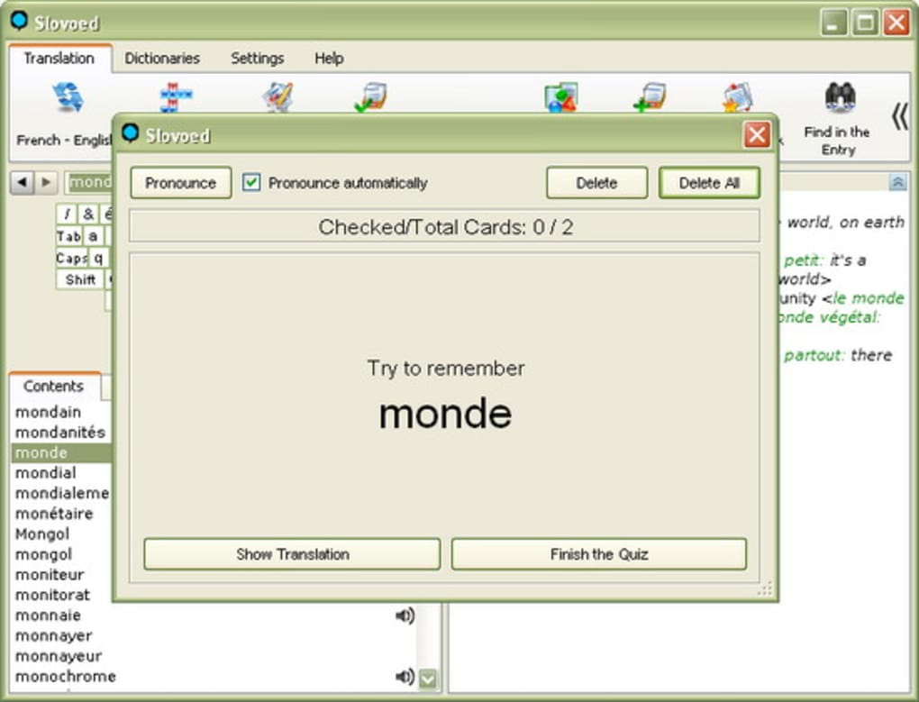 English-French-English Slovoed Classic talking dictionary - Download