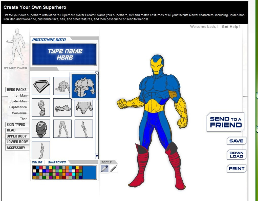 marvel comics create your own superhero