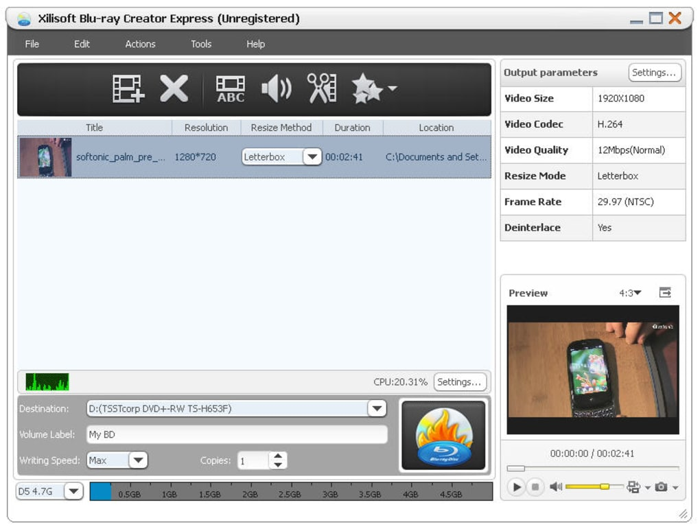 Xilisoft Blu Ray Creator Express Download