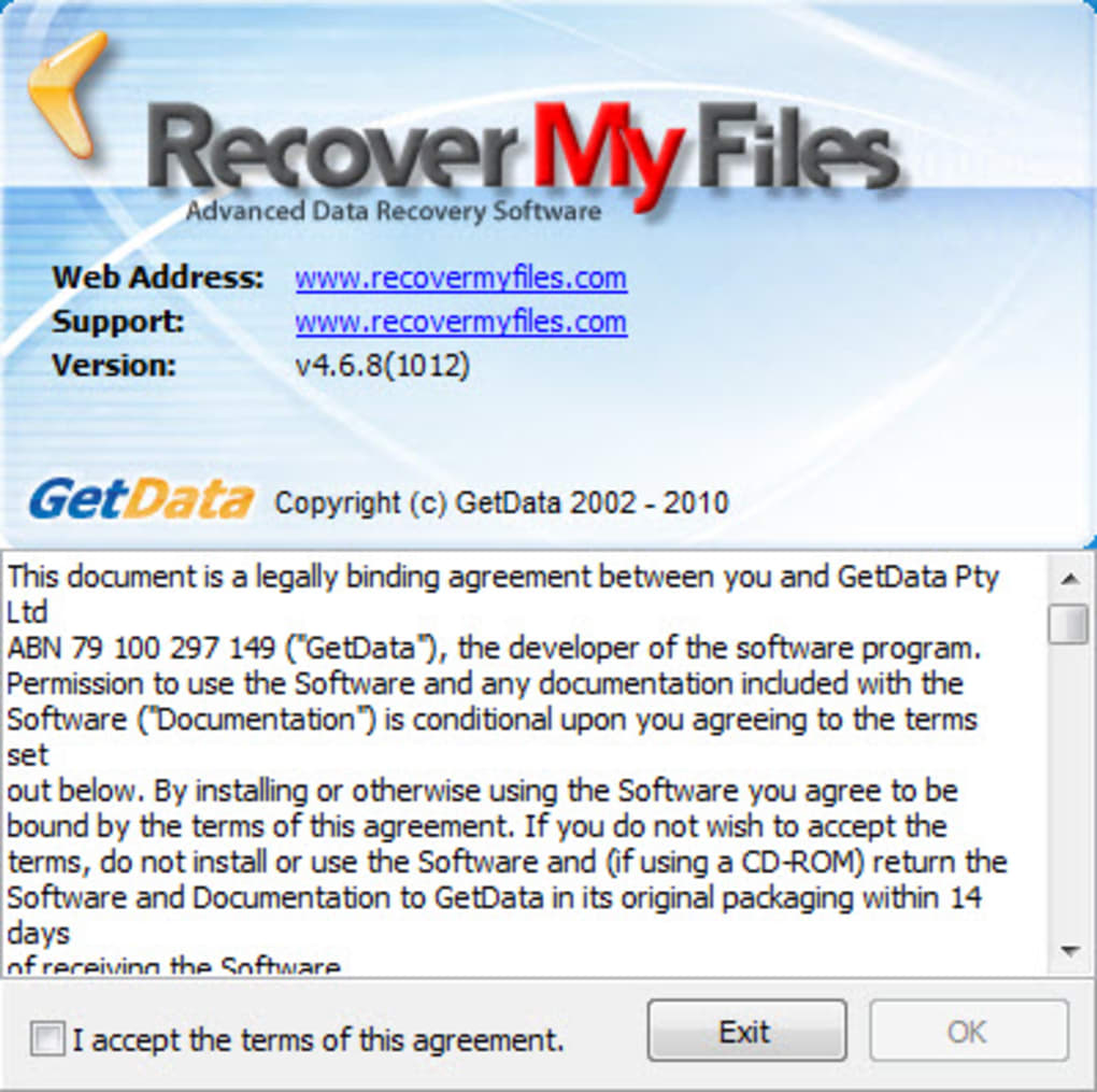 Recover My Files data recovery software download