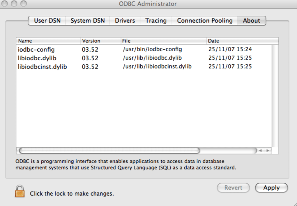 Free odbc driver for mac numbers key