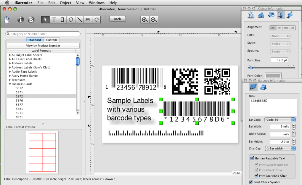 iBarcoder - Mac Barcode Generator (Mac) - Download