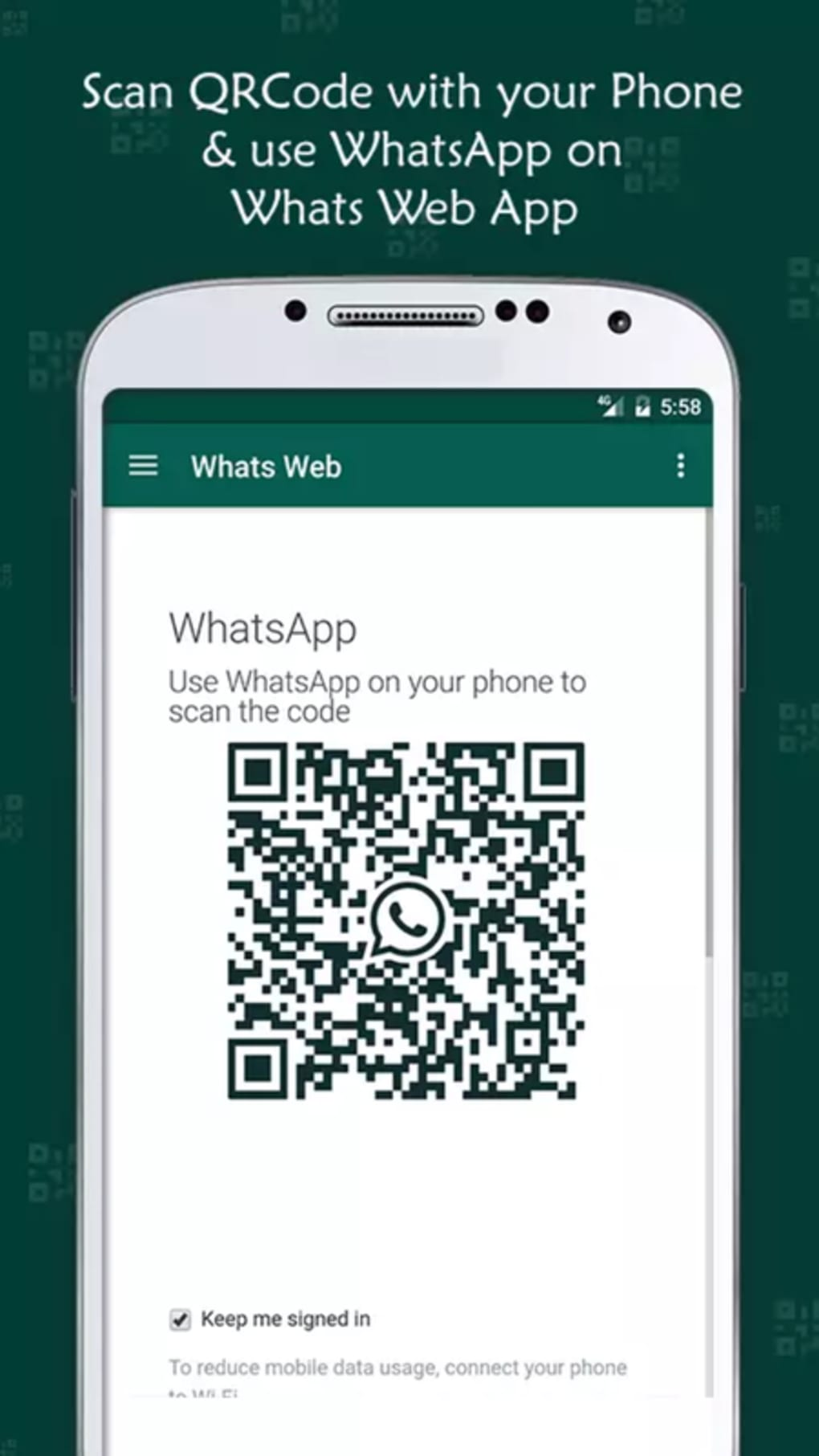 how to scan whatsapp qr code with android phone