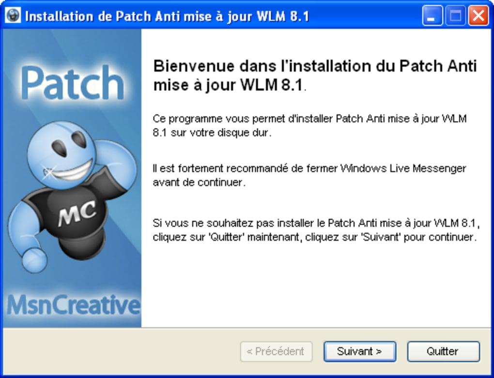 TÉLÉCHARGER PATCH MSN 2009 CLUBIC GRATUITEMENT