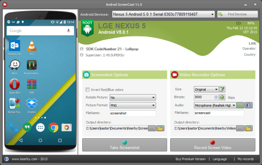 Android Screencast - Download