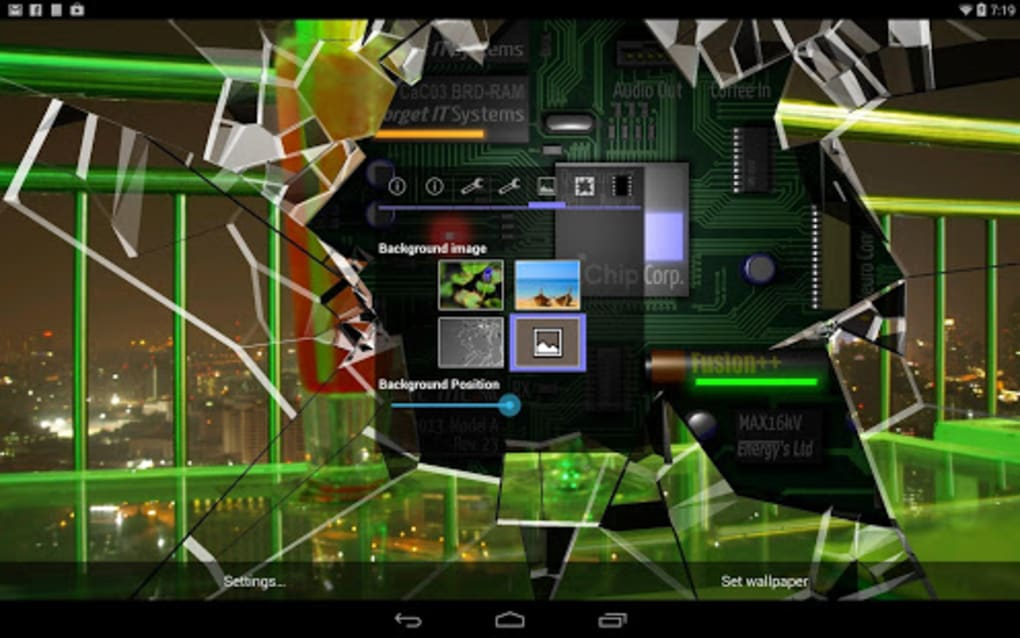 Cracked Screen Gyro 3d Pro Parallax Wallpaper Hd For Android