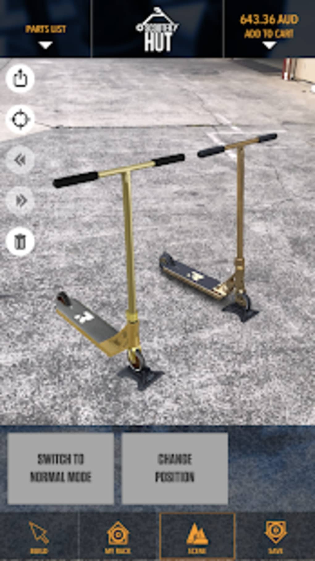 scooter hut 3d custom builder for android