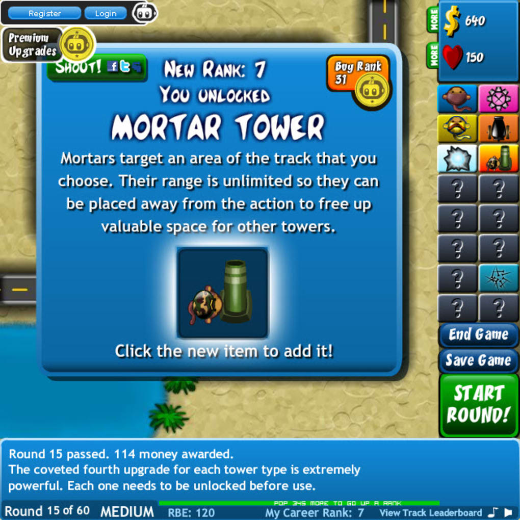 Bloons Tower Defense 4 Online