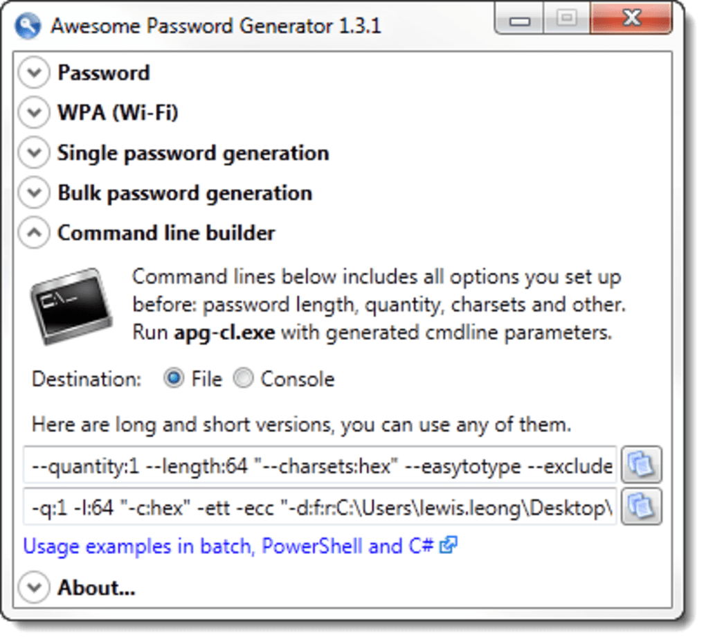 Awesome Password Generator Portable