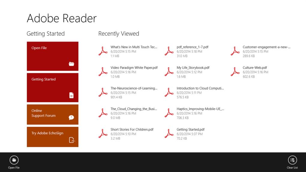 adobe reader touch for windows 10 windows ダウンロード