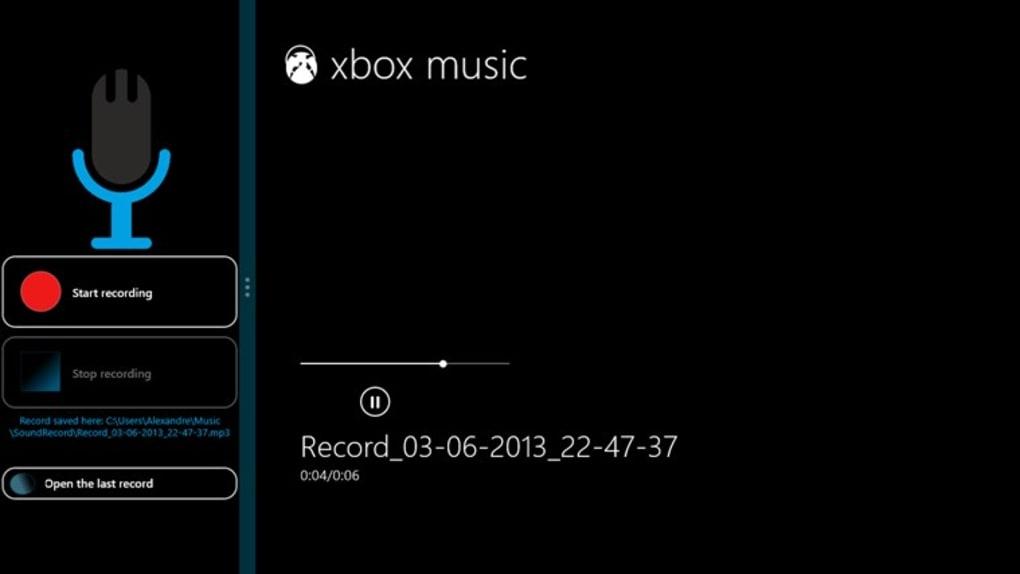 le magnetophone de windows xp