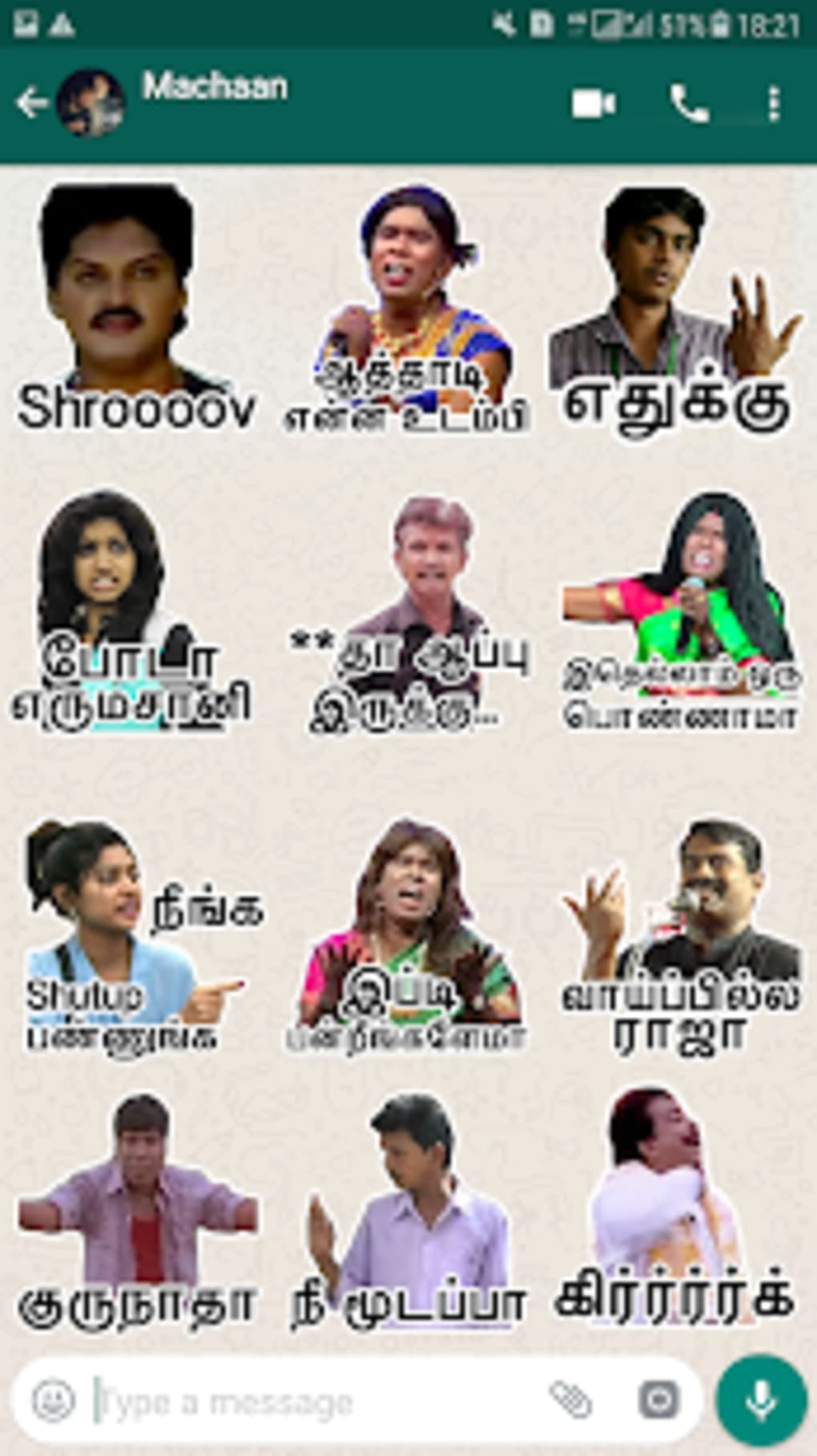 Tamilanda: Tamil stickers WA Status WAStickerApps for
