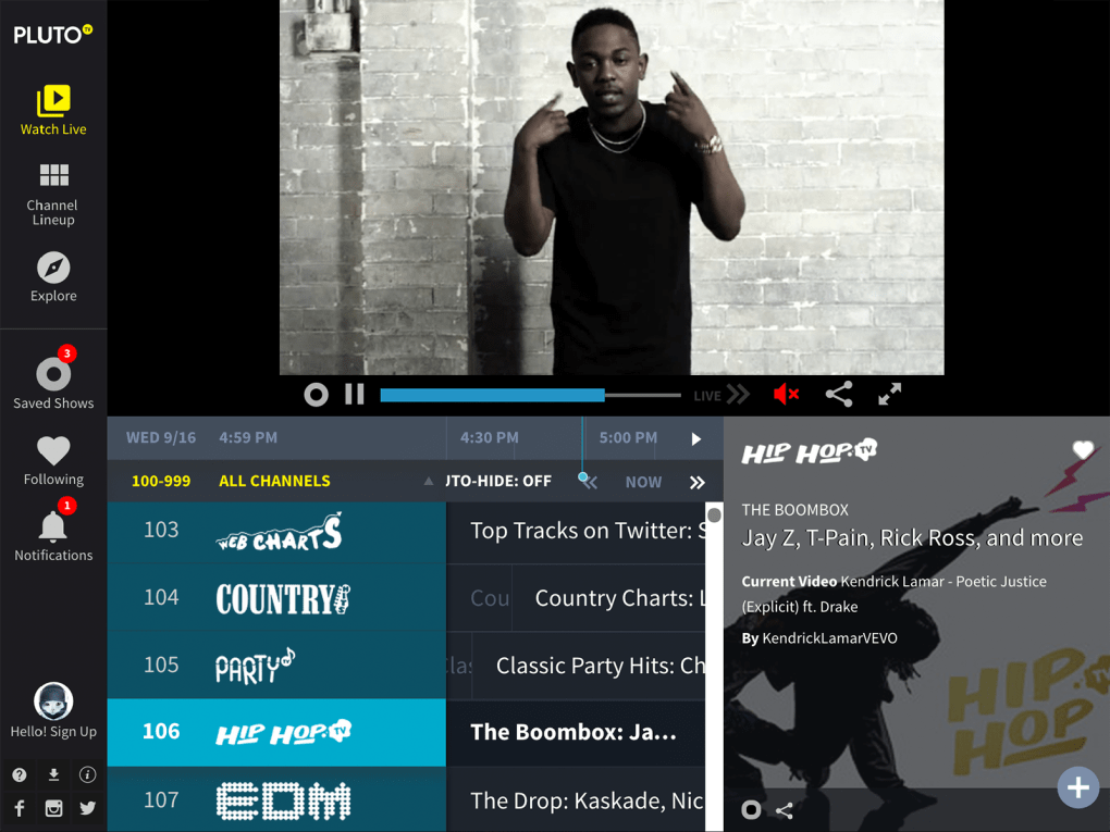 Pluto TV: 100+ Free Channels - Download