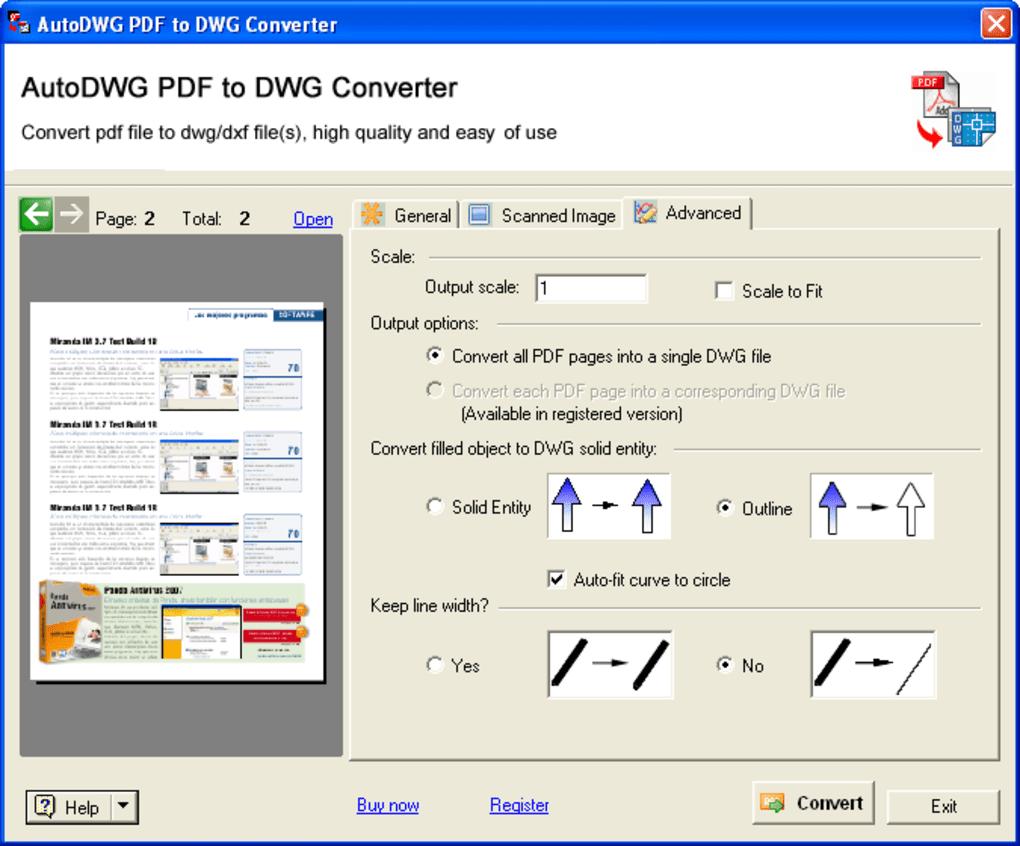 Pdfin Pdf To Dwg Converter Descargar