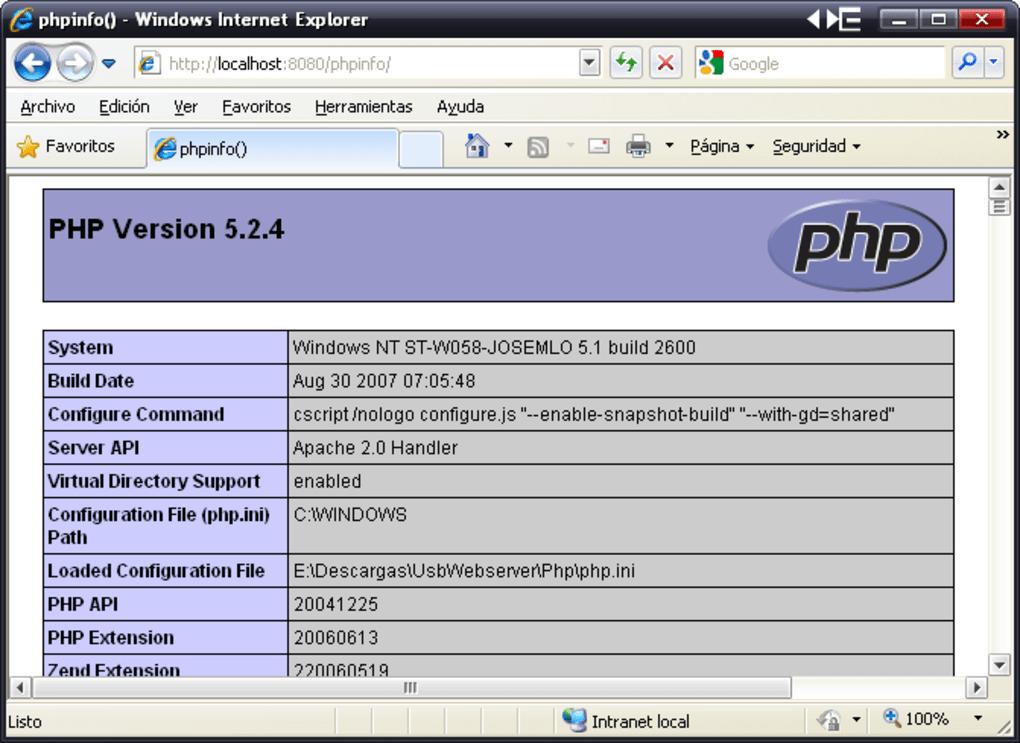 USB Webserver - Download