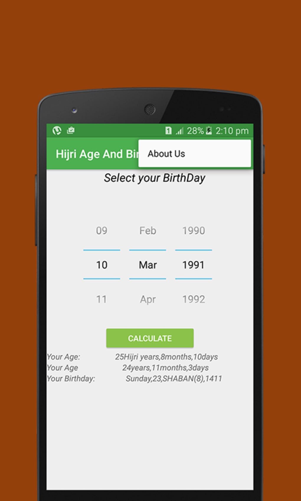 Hijri age & birthday calculate for android apk download.