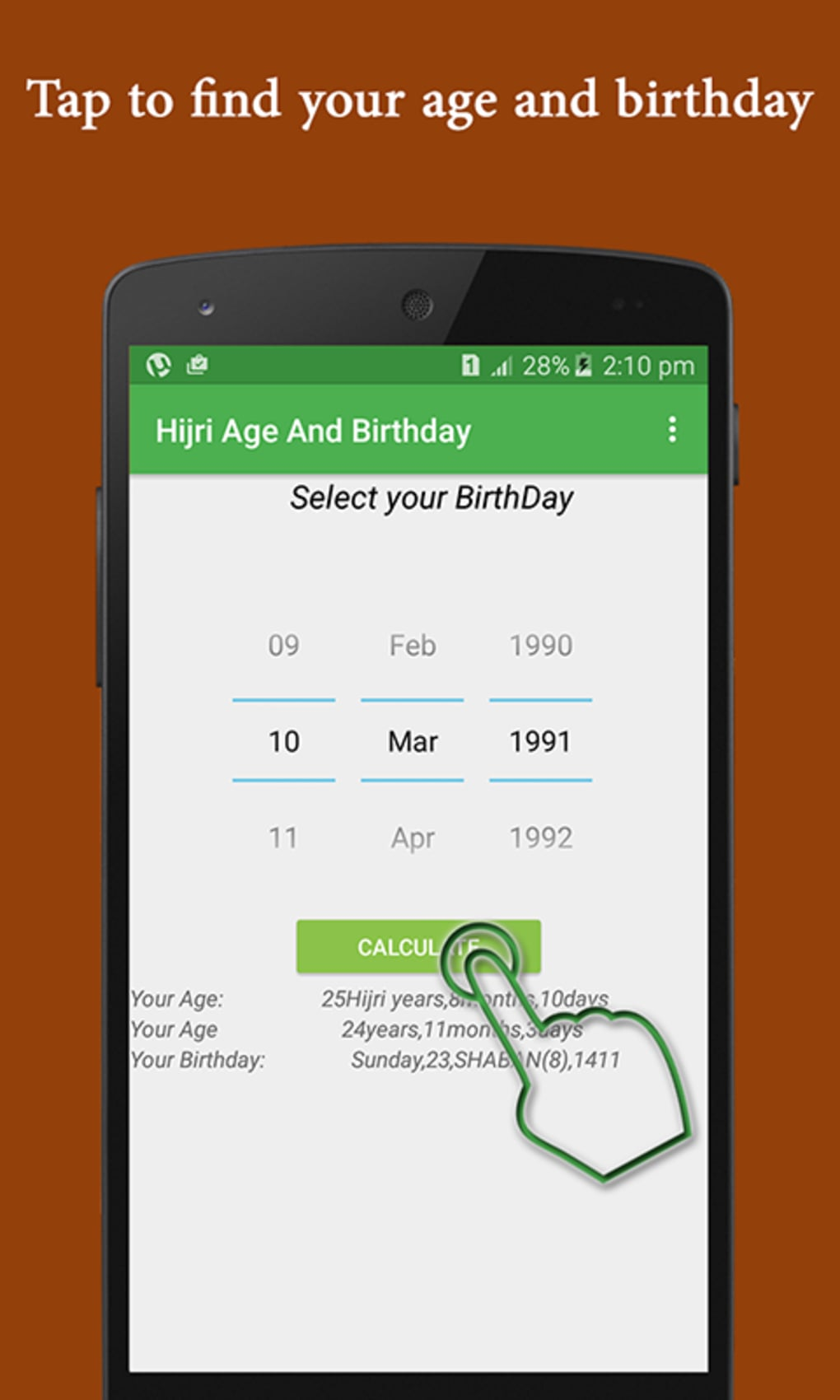 Hijri age birthday calculator for android download.