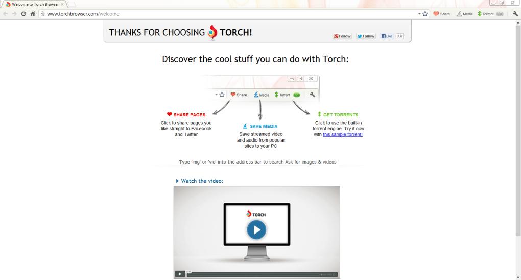 navigateur torch gratuit softonic