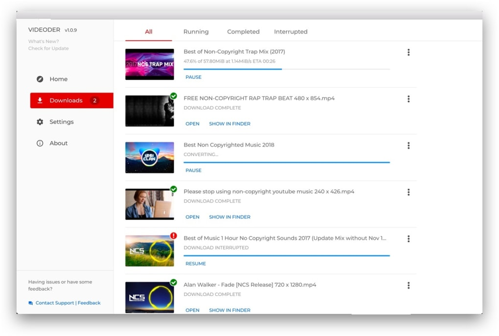 videoder video downloader app screenshot